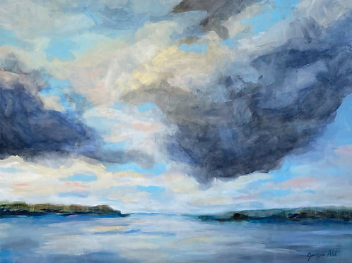 """RENTED - Days Done, by Jaclyn Abt, 36"""" x 48"""""""