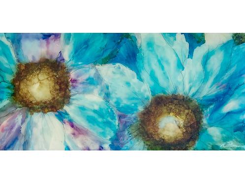 "Floral Series 3, 12"" x 24"""