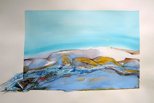 """Sleeping With The Surf, 26"""" x 35"""""""