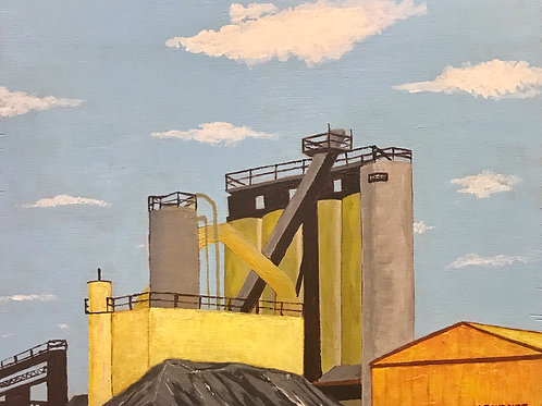 """The Sentinels, South Service Rd. 15"""" x 17"""""""