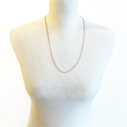 "24"" Rose Gold Necklace with Beads"