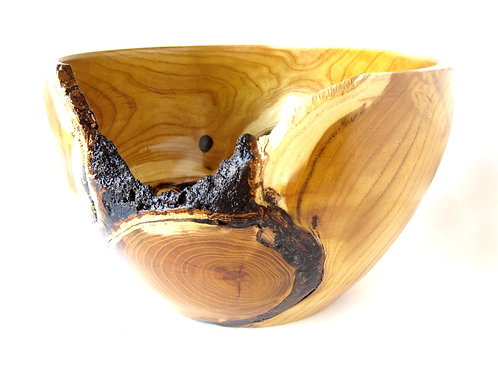 "Osage Orange Wood Bowl, 6""x 9 1/2"""