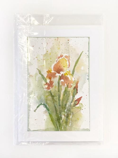 "Original Art Card - Iris #2, 5"" x 7"