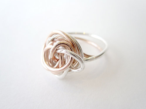 Ring - Rose Gold & Silver Nest Collection
