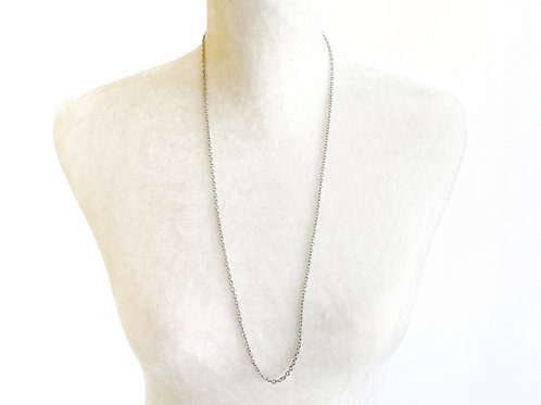 """30"""" Silver Chain Necklace"""