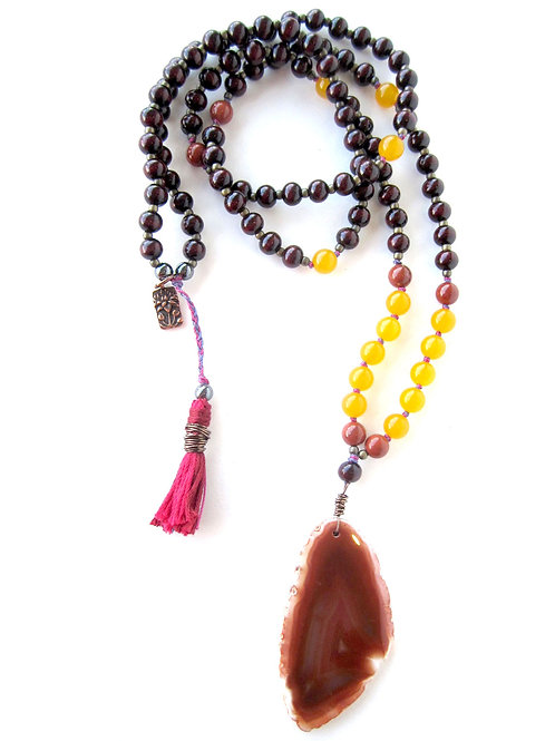 Necklace - Agate with Tassel
