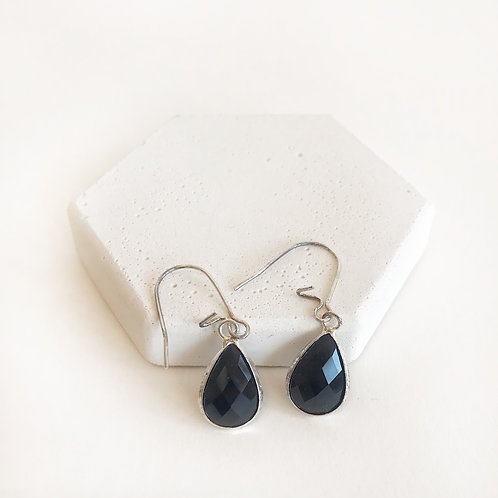 Earrings - Black (small drop)