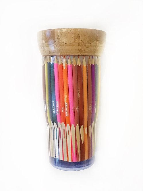 """Pencil Crayon Vase, 5"""" x 9"""""""