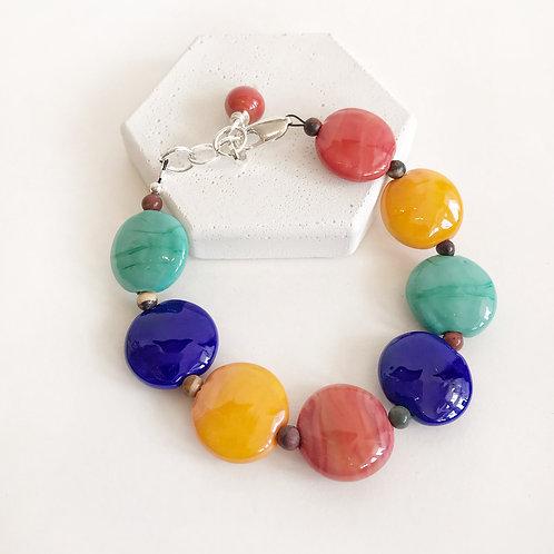 Lampwork Bracelet - Multi-Coloured