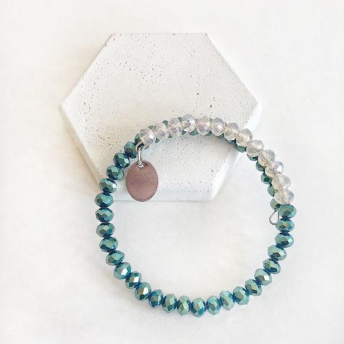 Stacking Bracelet - Teal & Opal