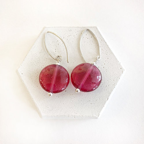 Lampwork Earrings - Translucent Red