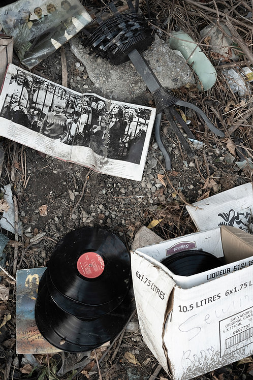 """Discarded Beatles Records, 17"""" x 23"""""""