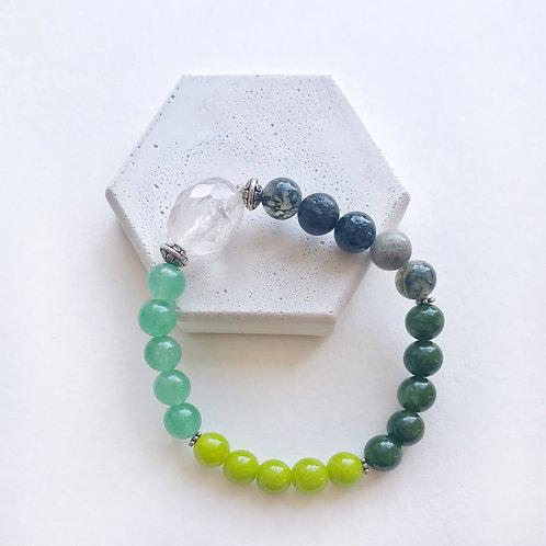 Bracelet - Greens & Clear