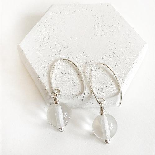 Lampwork Earrings - Clear