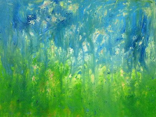 "Blue Green Series, 12"" x 16"""