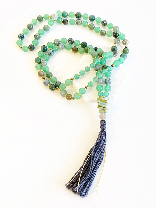 Necklace - Green & Grey