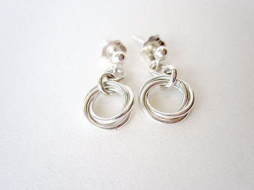 Earrings - Silver Mobius Collection Studs