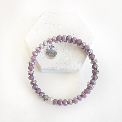Stacking Bracelet -Purple & Opal