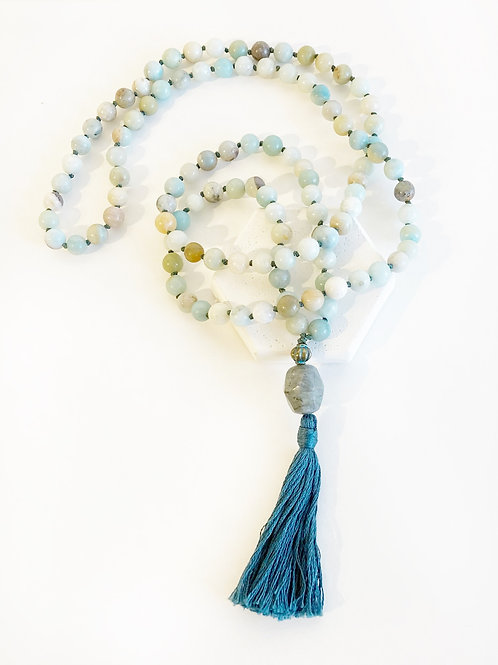 Necklace - Pale Blue & Slate Blue