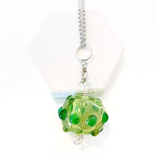 Hollow Pendant - Translucent Green