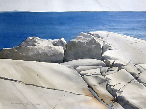 """Rock Formation 1, 20"""" x 27"""""""