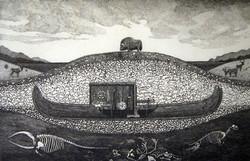 Grave Ship 1950, A.G. Smith 1975, copper plate engraving 17″ x 22″ – $550