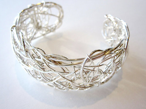 Bracelet - Silver Cuff, Nest Collection