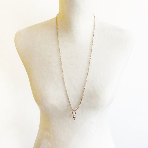 """30"""" Rose Gold Clip Chain Necklace"""