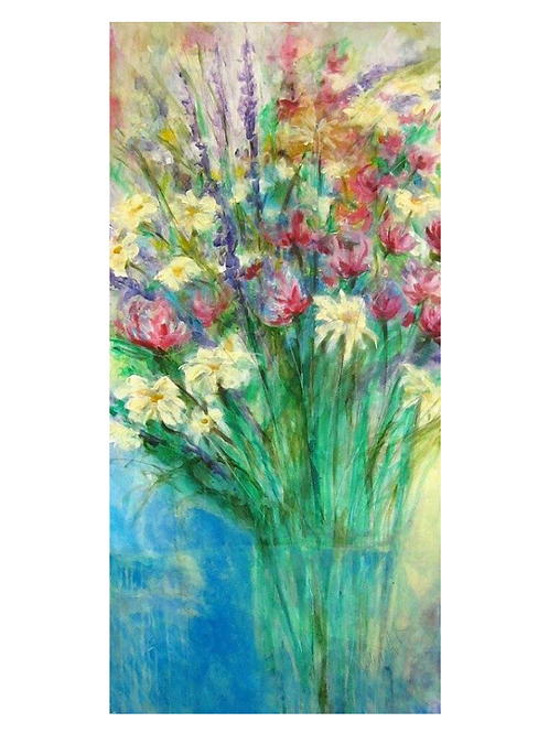 "Grandma's Flowers, 24"" x 48"""