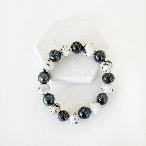 Bracelet - Sparkly Black & White