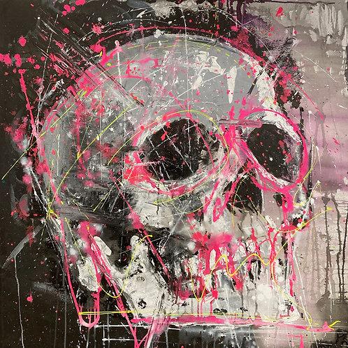 "Tina's Skull, 36"" x 36"""