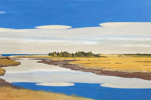 "Evangeline Shore, Nova Scotia, 11"" x 16"""""