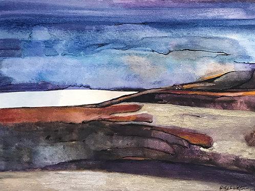 "Lake & Sand Dunes, 13"" x 15"""