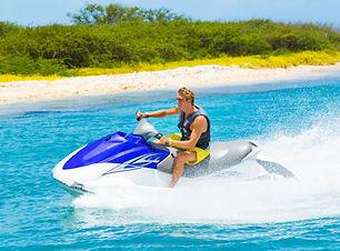 Young Man on Jet Ski, Tropical Ocean, Va