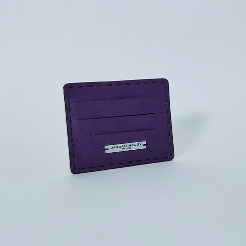 Porte-cartes Agneau Violet