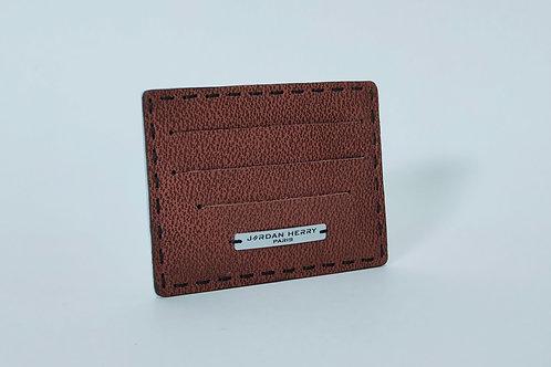 Porte-cartes Marron texturé