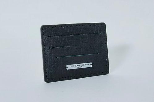 Porte-cartes Noir texturé