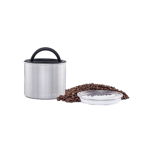 """Airscape Vacuum Airtight Canister 4"""" Stainless Steel 250g"""