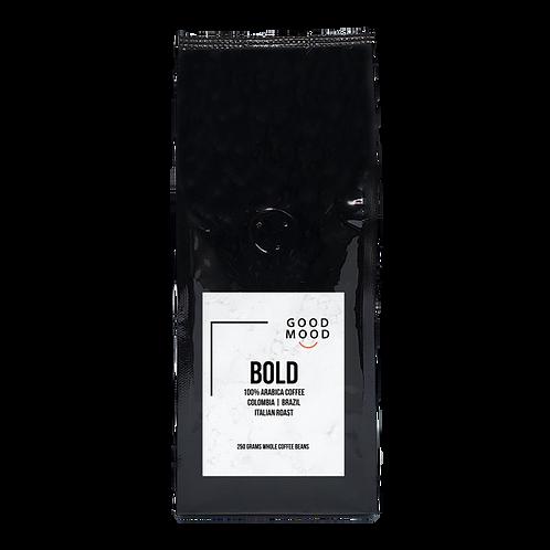 Good Mood BOLD - 100% Arabica | Whole Coffee Beans | 250 grams | Italian Roast