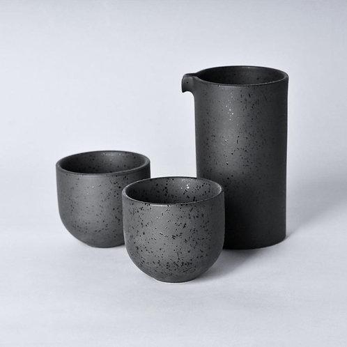 Loveramics BREWERS Specialty Jug with 2pcs Sweet Tasting Cup Set - Basalt