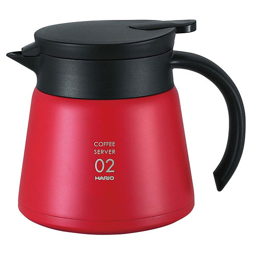Hario V60 Insulated Stainless Steel Heat Resistant Server 02 - 600mL RED