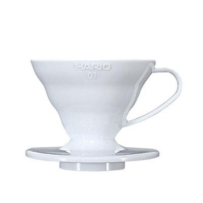 Hario V60 White PLASTIC Dripper - Size 01