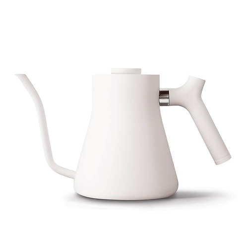 Fellow Stagg Stovetop Pour Over Kettle with Thermometer 1 Liter - Matte White