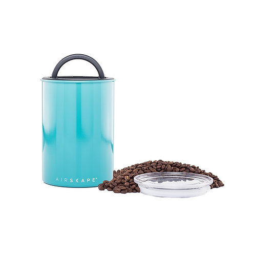 "Airscape Vacuum Airtight Canister 7"" Turquoise 500g"