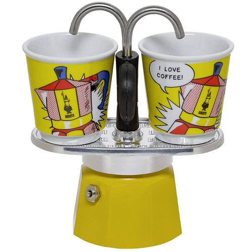 Bialetti Mini Express & 2pcs Espresso Cups - Lichtenstein