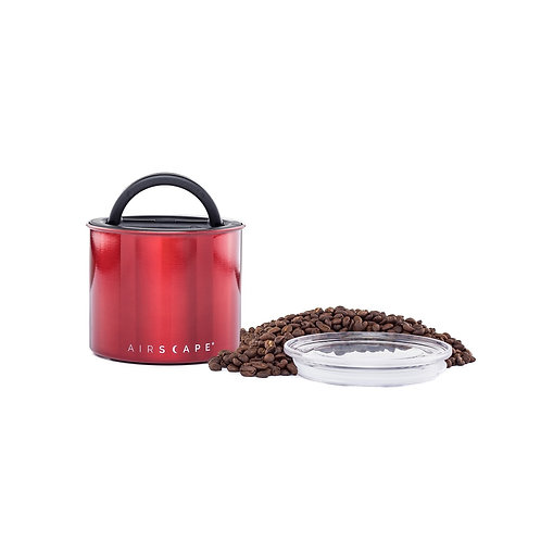 """Airscape Vacuum Airtight Canister 4"""" Red 250g"""