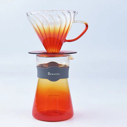 Brewista Tornado Dripper & Server Set - Orange + Free Hario 01 Size Filter Paper