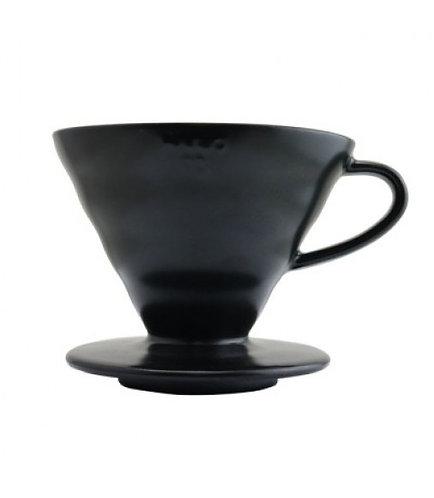 Hario V60 Matte Black Ceramic Dripper - Size 02