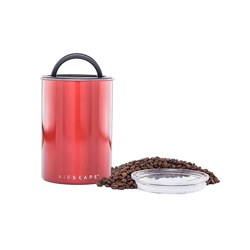 """Airscape Vacuum Airtight Canister 7"""" Red 500g"""