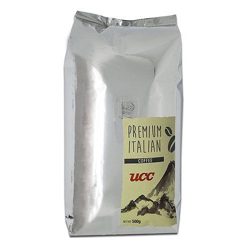 UCC Premium Italian Whole Coffee Beans 500 grams - Less Acidic Dark Roast